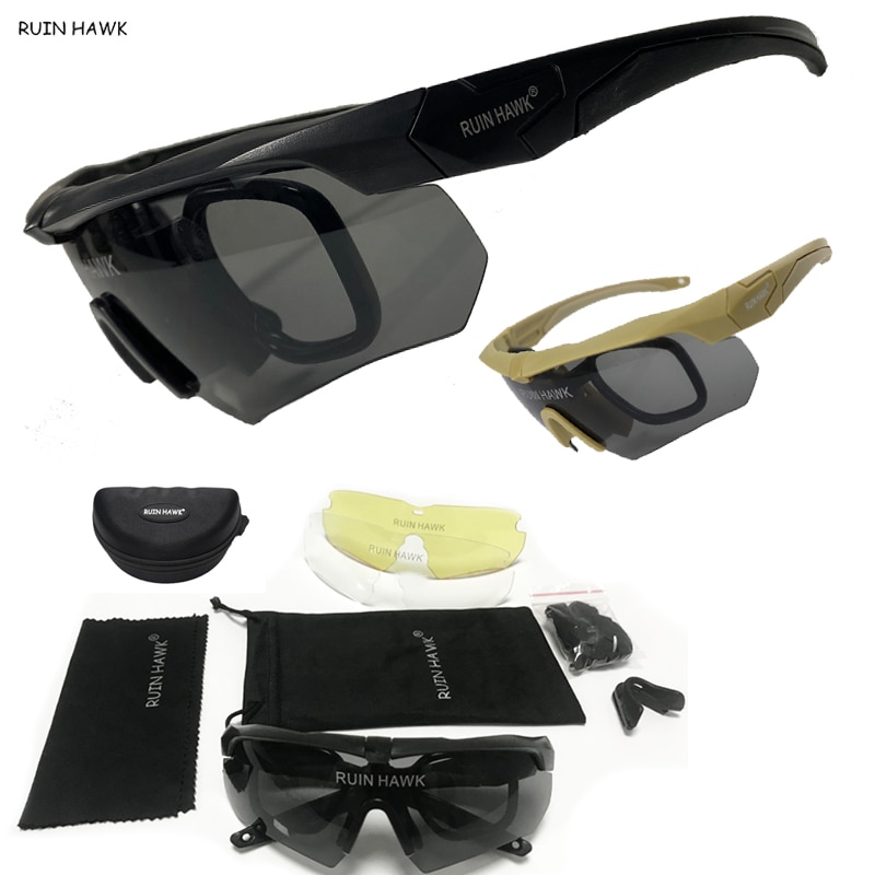 Mens Sunglasses Military Army Combat Goggles Tactical Airsoft Paintball Safety Glasses Cycling Glass