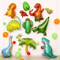 cartoon dinosaur balloons for baby birthday party decorations foil balloons for infant baby shower