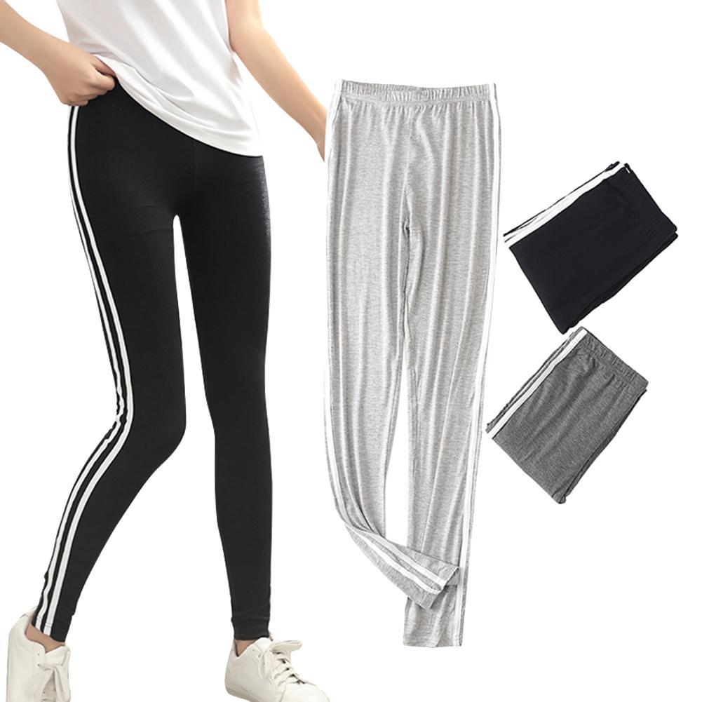 HOT 2019 New Fashion Women Casual High waist Bandage Loose Striped Wide Leg Long Pants Trousers