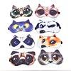 Słodki kociak pies maska do spania przenośny Eyeshade pokrywa maska na oczy naturalne spanie miękka opaska na oczy opaska do spania osłona oczu
