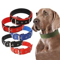 adjustable nylon pet dog collar for small large dogs durable puppy big dog collars pitbull pug products for pets honden halsband