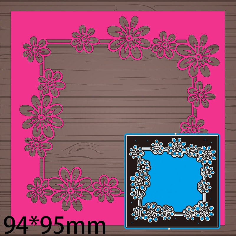 94*95mm Lace Frame Greeting Card Decorate Cutting Dies DIY Scrap Booking Photo Album Embossing Paper Cards