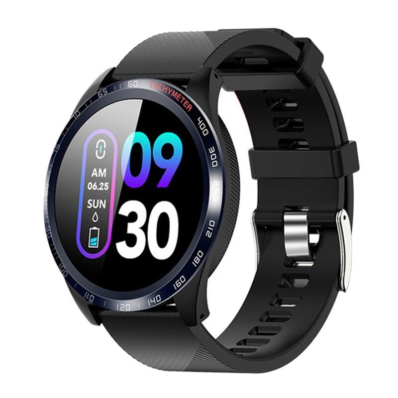 MOOL W4 inteligente reloj de los hombres de 1,3 pulgadas deporte impermeable smartwatch con monitor de ritmo cardíaco reloj de presión arterial para IOS android