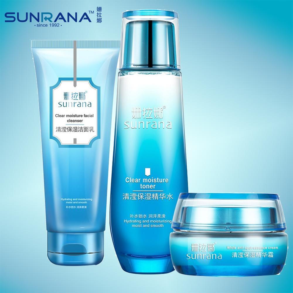 SUNRANA, crema hidratante transparente, esencia de tóner Moistrue, crema de agua, limpiador Facial, hidratación, suavizante para reparar la piel