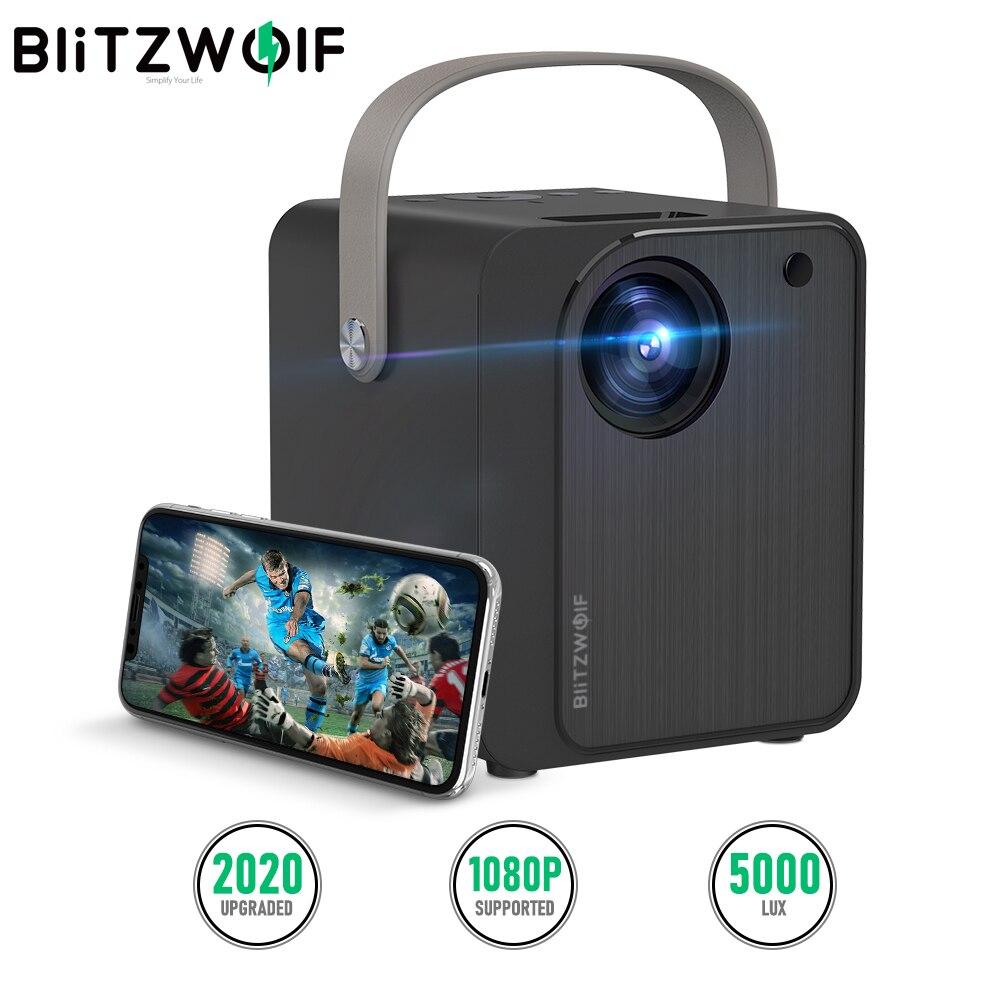 BlitzWolf BW-VP7 البسيطة العارض مع رئيس 5000Lux اللاسلكية شاشة الإنعكاس المحمولة Wifi في الهواء الطلق العارض للهواتف الذكية