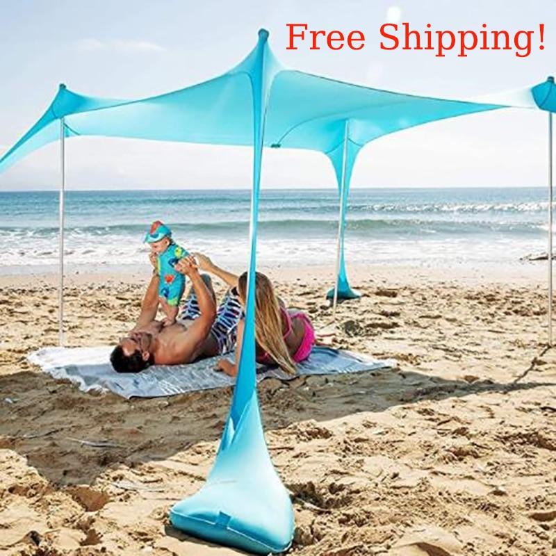خيمة للشاطئ شاطئ ظلة الطفل الشمس الخيام ظلة خيمة خيمة قابلة للطي الطفل الشمس الخيام ظلة المظلة الظل غشاء YOHOLOO