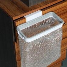 Portable sac poubelle support étagères cuisine placard armoire porte suspendus mains libres ordures maison nettoyage poubelle outil de stockage