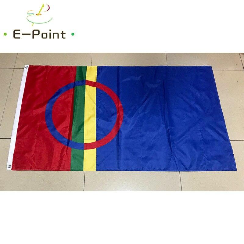 Финский саамский флаг 3 фута * 5 футов (90*150 см) размер рождественские украшения для дома флаг баннер подарки