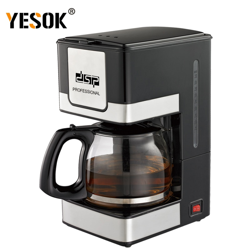 1.5L ماكينة القهوة سعة كبيرة 220 فولت التلقائي الكهربائية الأمريكية بالتنقيط ماكينة القهوة للمنزل مكتب 800 واط