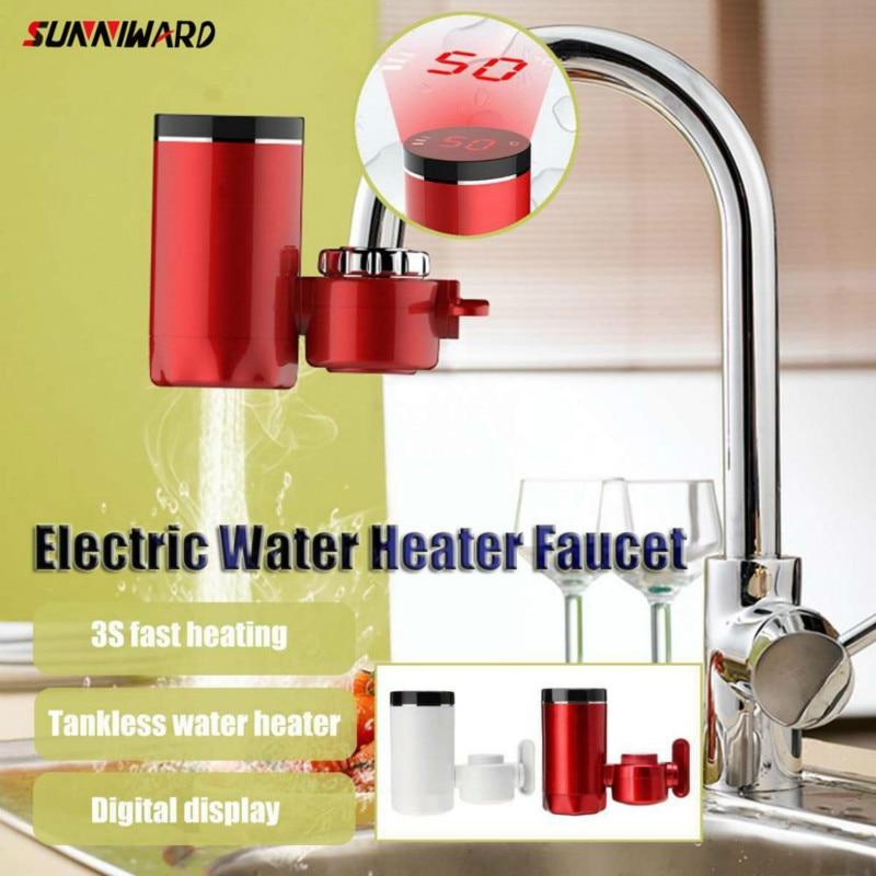 Grifo eléctrico caliente, calentador de agua sin tanque, calentador de agua, grifo de cocina, pantalla Digital, grifo de agua instantáneo 3000W, instalación gratuita
