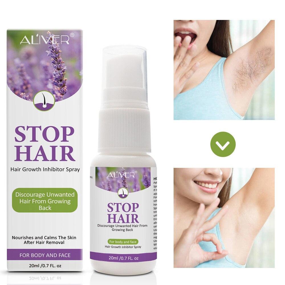 Permanente do crescimento do cabelo remoção inibidor spray barba biquíni íntimo pernas corpo axila indolor facial parar o cabelo
