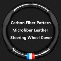 38cm microfiber leather car steering wheel cover anti slip for skoda rapid octavia rs vrs yeti fabia spaceback superb