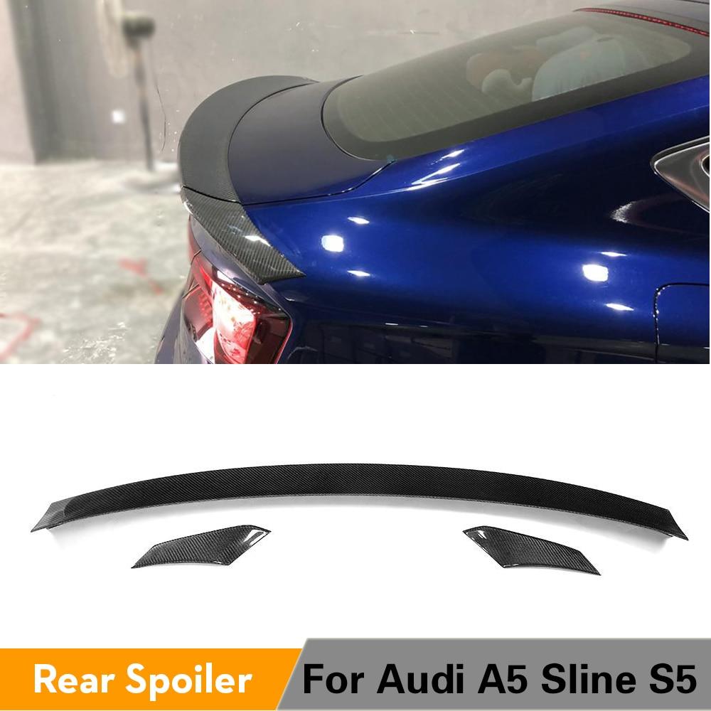 De fibra de carbono alerón trasero para maletero para Audi A5 Sline S5 Sportback Hatchback 4 puerta 2017 2018, 2019 3 unids/set