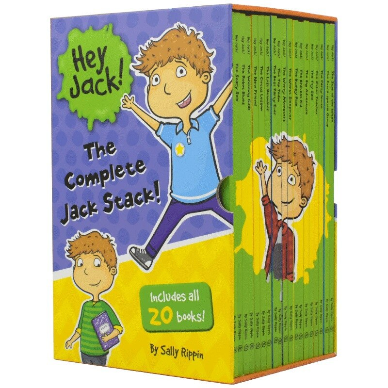 20 PCS/Set Hey Jack !The Complete Jack Stack English Picture Story Book Children'  books for kids  libros  book sets