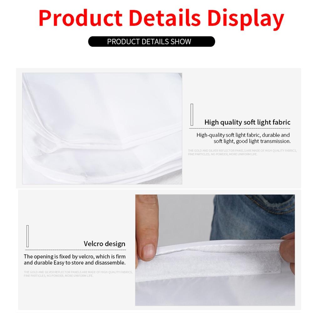 Soonpho 5 in 1 Panel Reflector Board Screen Sun scrim Translucent White/Black/Silver/Gold Diffuser Reflector Aluminum Alloy Fram enlarge