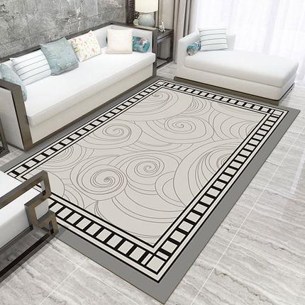 سجادة هندسية حديثة على الطراز الصيني لغرفة المعيشة والأريكة وغرفة النوم ، سجادة مستطيلة غير قابلة للانزلاق