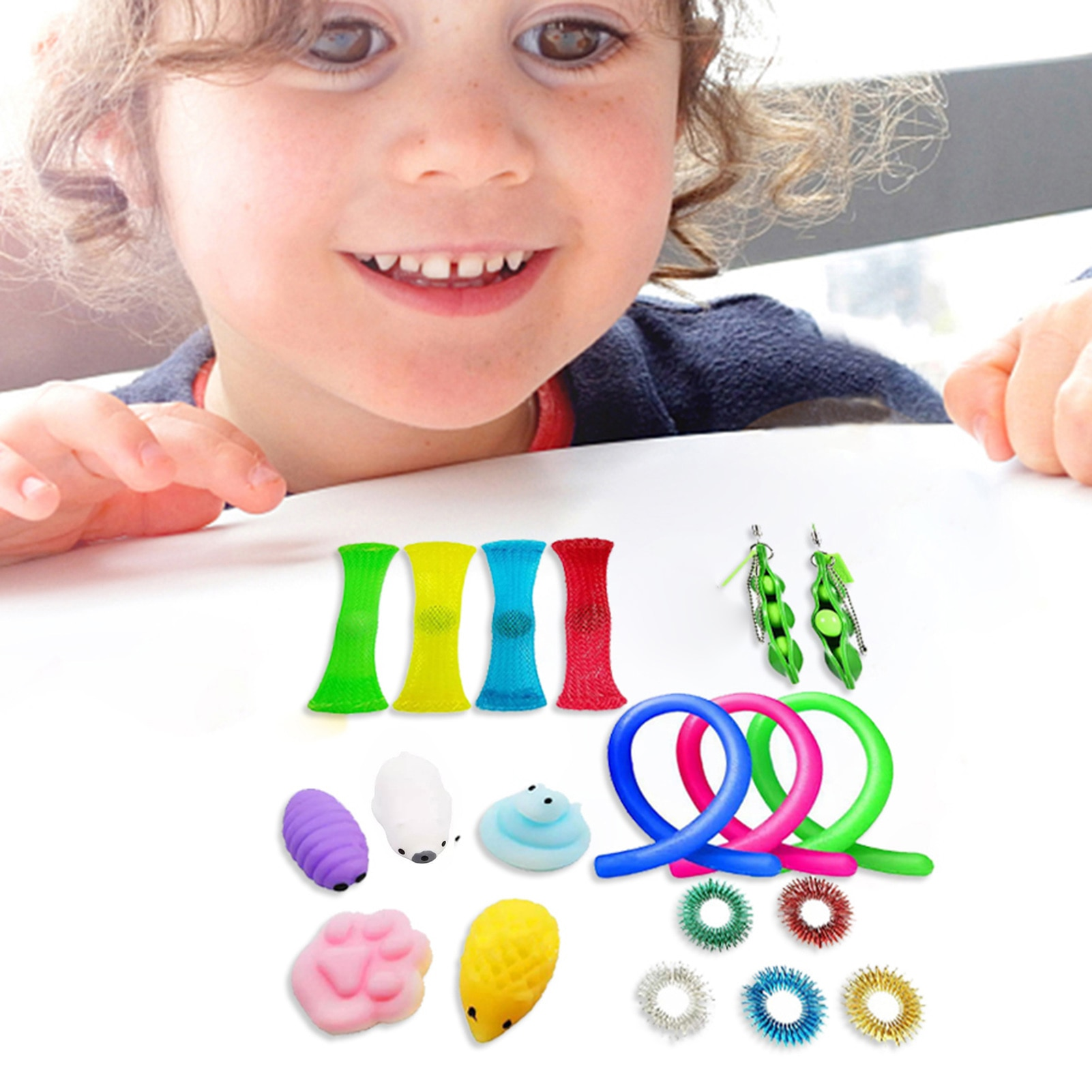 20pcs Sensory Toy Set Anti Stress Toy Set Relief Stress Sensory Anxiety Stress Relief Toy Set Fidget Toys For Kids Adult enlarge