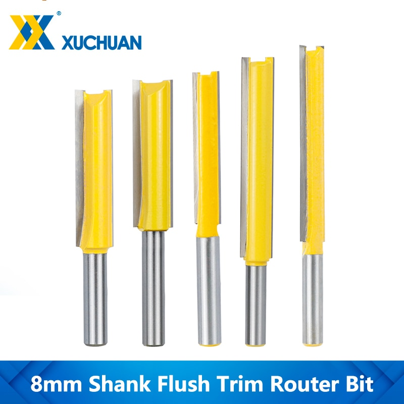 Flush Trim Router Bit Lange 50-76mm Holz Router Bit 8mm Schaft Gerade Ende Mühle Für Holzbearbeitung gravur Werkzeuge Zapfen Cutter