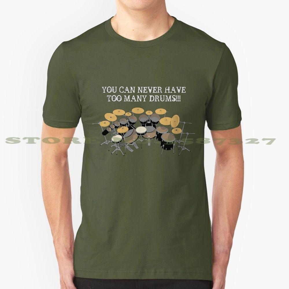 ¡También muchos tambores! Camiseta Vintage de moda, Kit de batería, instrumento de...