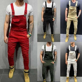 NEW Fashion Solid Color Overall Jumpsuit