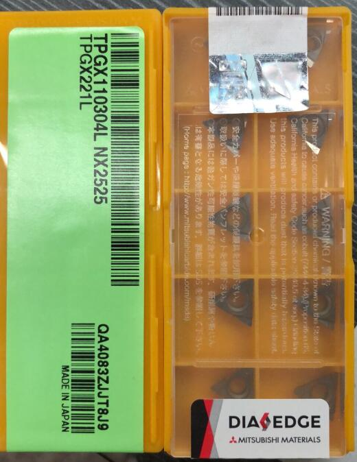 TPGX110304L NX2525 10 قطعة/الوحدة الأصلي عالية الجودة CNC مخرطة أدوات للصلب CNC إدراج TPGX110304L NX2525