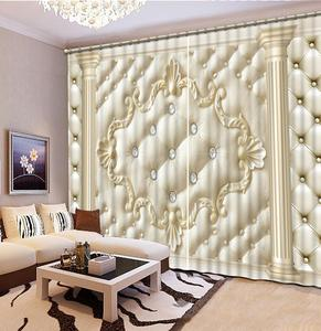 3D Roman Curtain Blackout Pattern Curtains For Living Room Bedroom Luxury Sofa Home Hotel Office Window Drapes