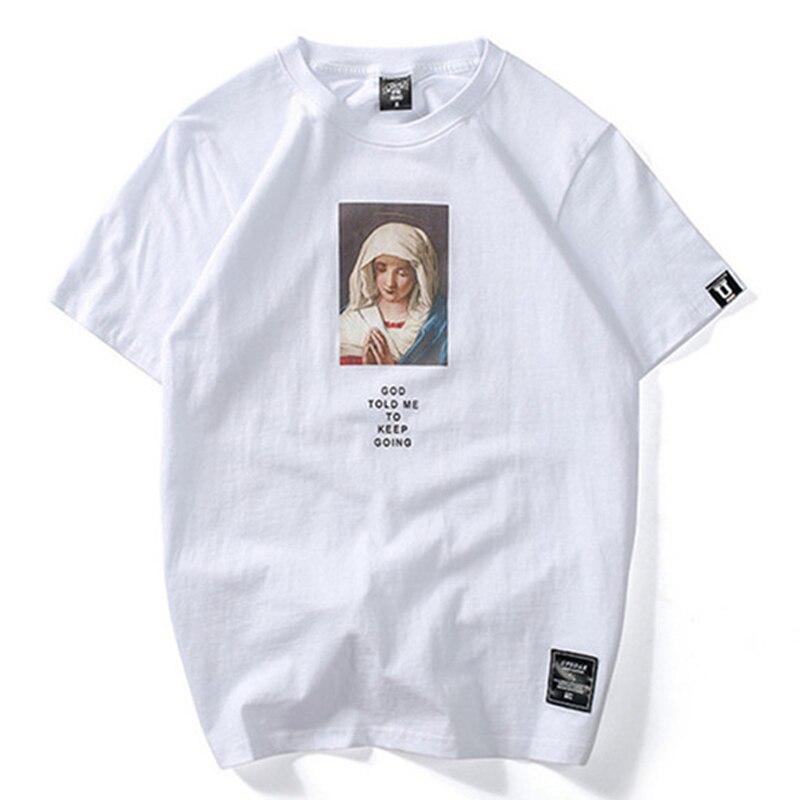 Verão t-shirts homens streetwear harajuku tshirt madonna impressão moda topos t masculino shorts manga algodão hh193