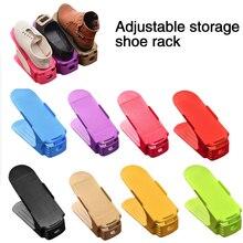 Organiseur de chaussures réglable Durable de 10 pièces   Fente de Support de chaussures, armoire permettant de gagner de lespace, placard Support de rangement pour chaussures, boîte à chaussures