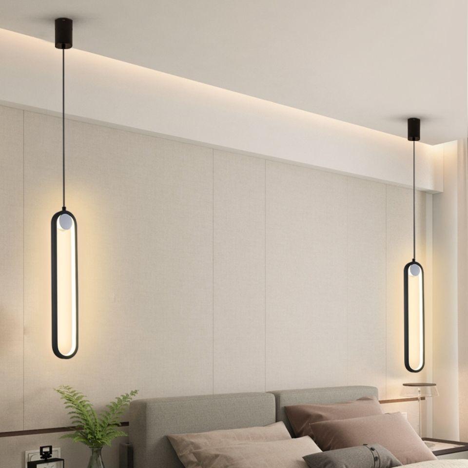 LED نوم السرير مصباح السقف الشمال غرفة المعيشة الجدار قلادة أضواء ديكور المنزل الحديث إضاءة داخلية
