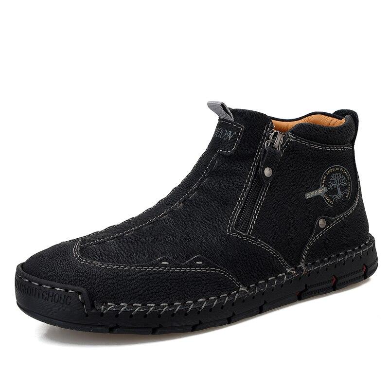 جديد الرجال الشتاء الأحذية الجلدية أحذية رياضية غير رسمية في الهواء الطلق 2021 الشتاء الذكور حذاء من الجلد والجلود حذاء كاجوال حذاء رجالي حجم ...