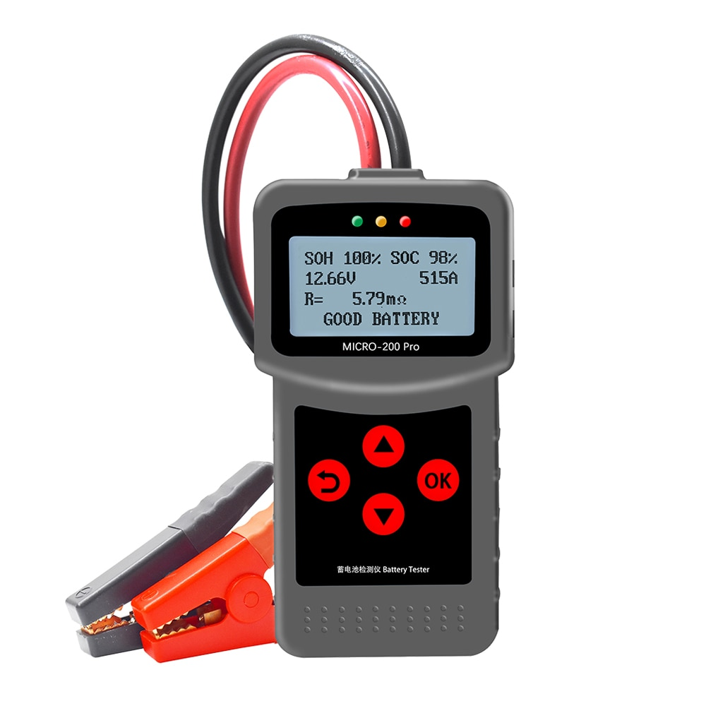 MICRO-200 PRO Car Battery Tester 12V 24V Capacity Digital Vehicle Battery System Analyzer Motorcycle Car Diagnostic Tool Testers duoyi dy2015 12v car battery system tester capacity maximum electronic load battery cranking charge test digital diagnostic tool