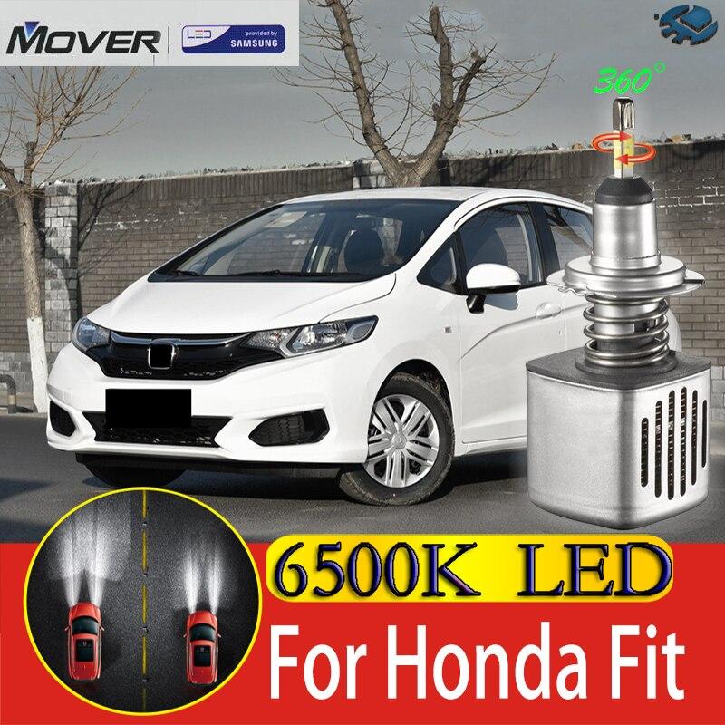 Car Headlight Bulbs LED Provided By SAMSUNG For Honda Fit Jazz LED Car 6500K White Light Auto Headlight  2X