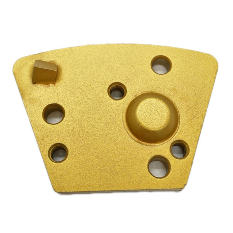 HT Thread Holes Trapezoid Concrete Grinding Block Diamond Floor Polishing Disc with One Quarter PCD Round Segment 12PCS