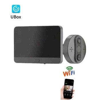 4.3 inch WiFi Peephole Video Doorbell Door Viewer Night Vision Motion Detection Monitor Wireless Intercom Camera Door Bell