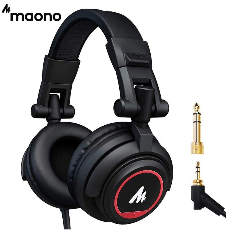 المهنية استوديو رصد سماعات على الأذن مع 50 مللي متر سائق MAONO AU-MH501