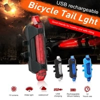 usb rechargeable bicycle rear led light waterproof bicycles rear tail lamp taillight mountain bike lamp lights bikes accessories
