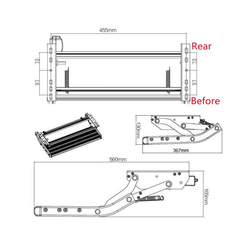 Load 200 Kg RV Pedals Aluminum Alloy Antiskid Manual Pedal Step Telescopic Steps Ladder Portable Caravan Motorhome Accessories enlarge
