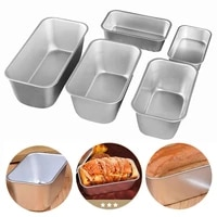 1pcs cake mold non stick no penetration aluminum alloy rectangle bread toast dessert snow square crust mould kitchen baking tool