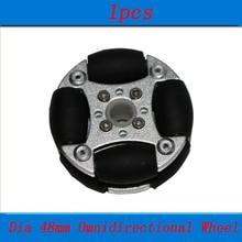 1pcs Dia 48mm Omnidirectional Wheel Metal Universal  Omni s for RC Cars Model Smart Robot Toys Platform Accessories