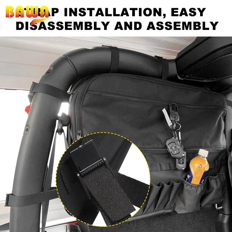 BAWA Auto Accessories Car Bag Car Organizer  for Jeep Wrangler JL 2018+ Car Trunk Storage Pouch enlarge
