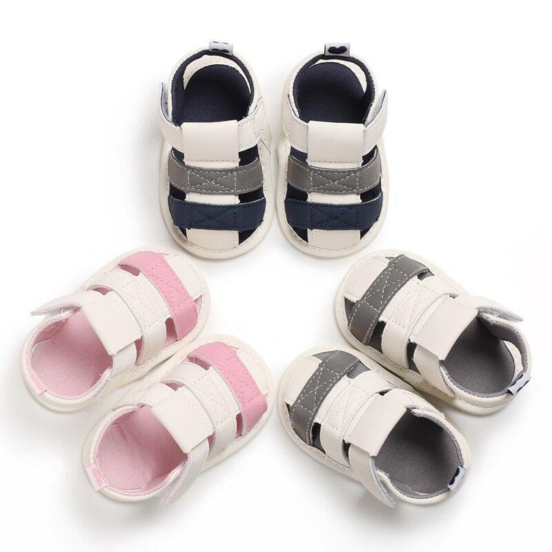 Sandalias para bebés recién nacidos, zapatos de cuna blandos de moda para verano para niños pequeños, sandalias antideslizantes