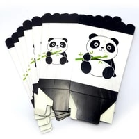 6pcs boys kids favors baby shower panda gifts candy box happy birthday party paperboard popcorn boxes decorate events supplies