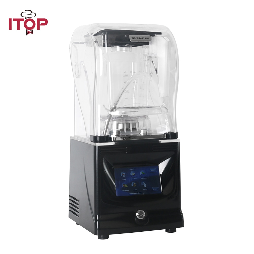 ITOP Heavy Duty Commercial Blender Ice Smoothies Blender Machine Food Mixer Juicer Food Processor With Reprograming Function zk 1000w heavy duty commercial and household grade blender mixer juicer fruit food processor ice smoothies 2l