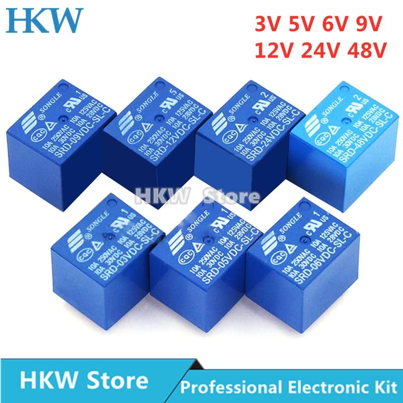 g7sa 3a1b 24vdc safety relays 10pcs Relay SRD-03VDC-SL-C SRD-05VDC-SL-C SRD-24VDC-SL-C SRD-12VDC-SL-C 3V 5V 6V 9V 12V 24V 48V 10A 250VAC 5PIN Relays Relais