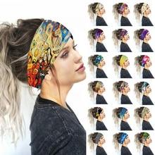 Large coton Stretch femmes bandeaux imprimés floraux bandes de cheveux élastiques pour les femmes bandeau Turban chapeaux filles bandeaux
