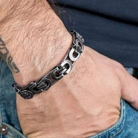 ethnic style retro bracelet personality motorcycle chain style punk boy mens hip hop stainless steel thick bracelet for womens