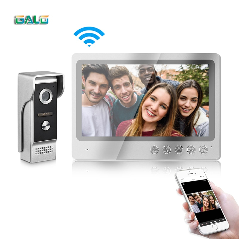 wireless wifi ip box for video doorphone doorbell building intercom system control 3g 4g android iphone ipad app on smart phone 9 Inch Villa IP Video Intercom System IOS Android APP Doorbell Camera WIFI Remote Unlock Control