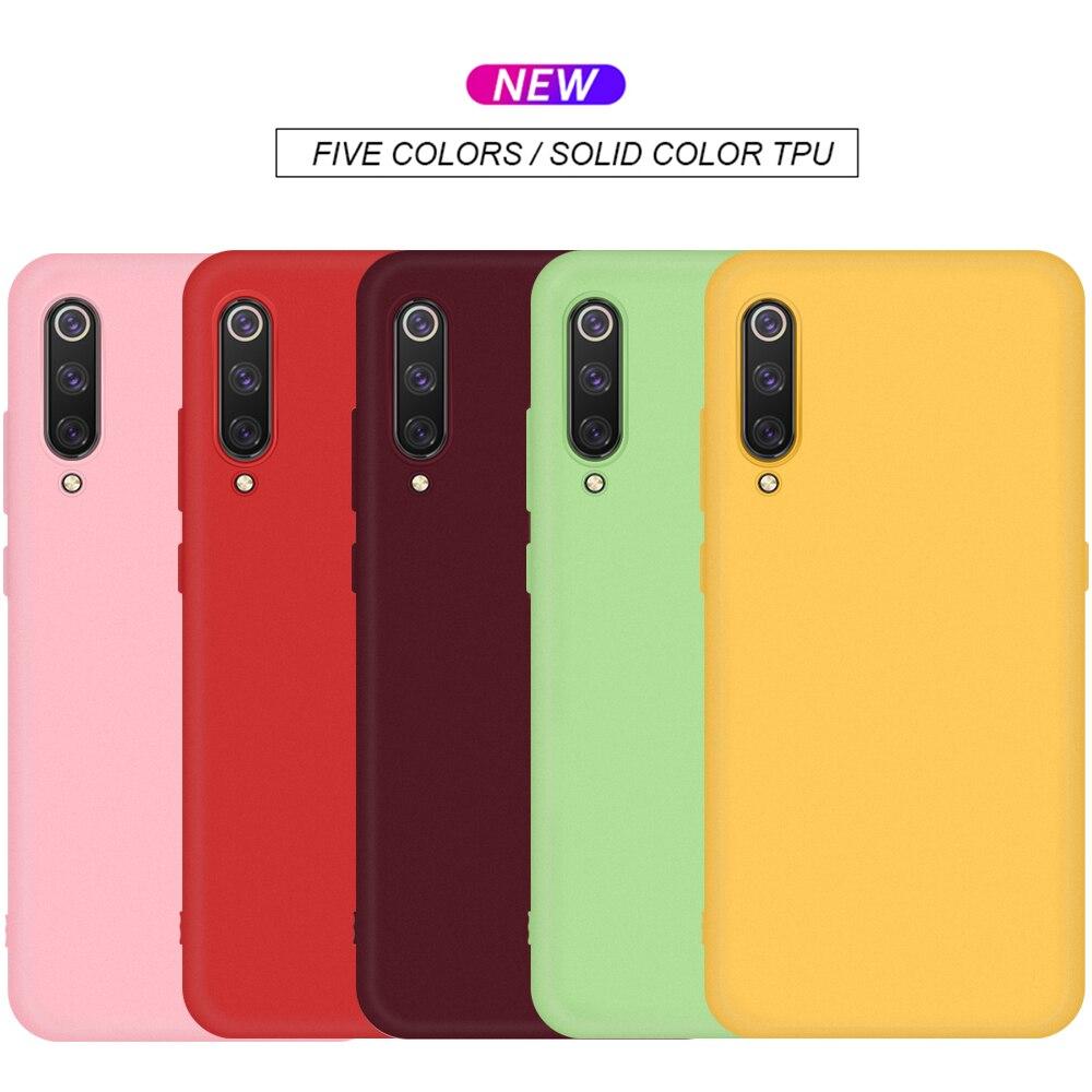 TPU Solid Color Case For Xiaomi Mi 9T 9 T Mi9T Pro Case Silicone Soft Shell Mi A3 Lite 8 A2 Mi8 Lite