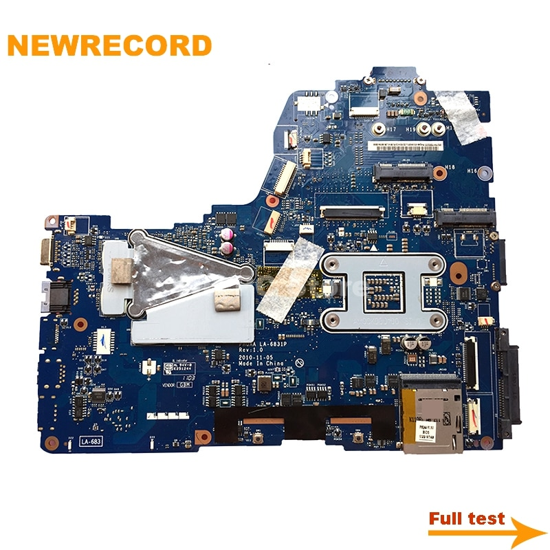 Купить с кэшбэком NEWRECORD K000125710 PHQAA LA-6831P Laptop Motherboard For TOSHIBA Satellite A665 P750 P755 GT540M 1GB HM65 DDR3