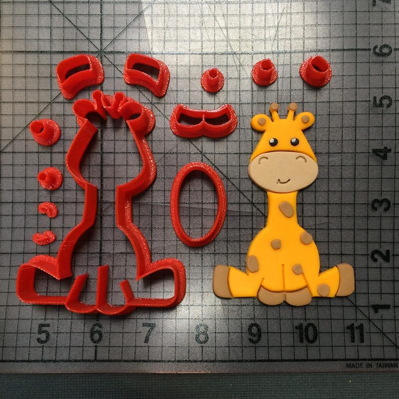 Baby giraffe cookie cutter mold kitchen baking supplies cake icing decoration mold fudge tool set 3D printing customization